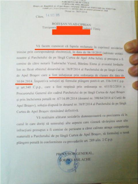 2015-10-21 - SOLICITARE LA CEREREA DE REDESCHIDERE a dosarului 38-P-2014 - email - [atașament] - Bilețel 38-p-2014[conf legii]